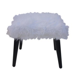 Vintage Faux Fur Bench