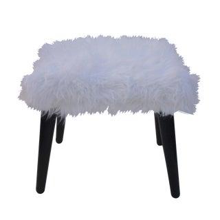 Vintage Faux Fur Bench