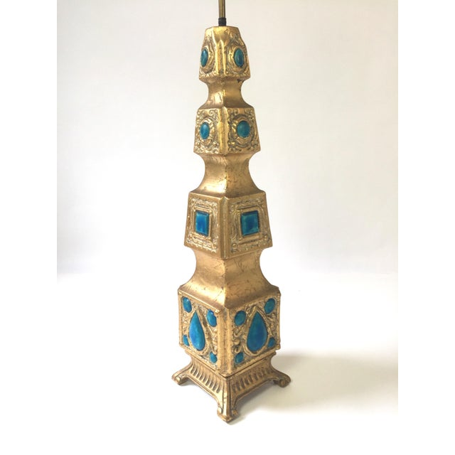 Pagoda Style Gilded Gem Lamp - Image 3 of 5
