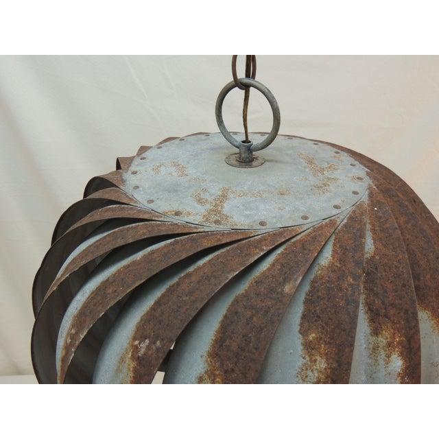 Vintage Industrial Ventilator Hanging Light - Image 3 of 6