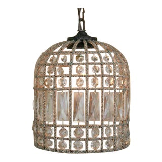 Small French Beaded Birdcage Chandelier