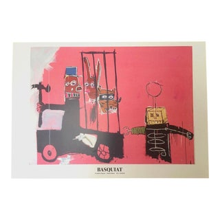 "1983 Jean Michel Basquiat Original Offset Lithograph Print Poster ""Molasses"""