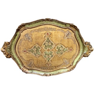 Italian Gilt Hand Painted Tole Tray