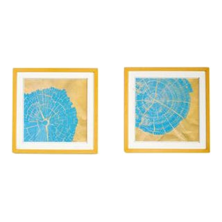 Abstract Bois Wall Art - a Pair