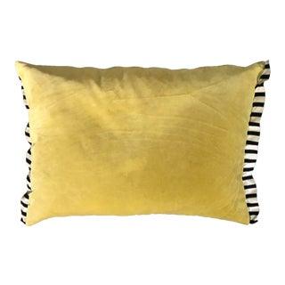 Velvet 2-Sided Pillow Yellow & Black