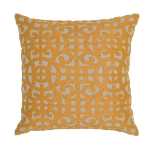 Jonquil Embroidered Cotton Pillow