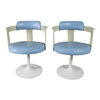Daystrom Furniture Tulip Style Swivel Chairs - A Pair