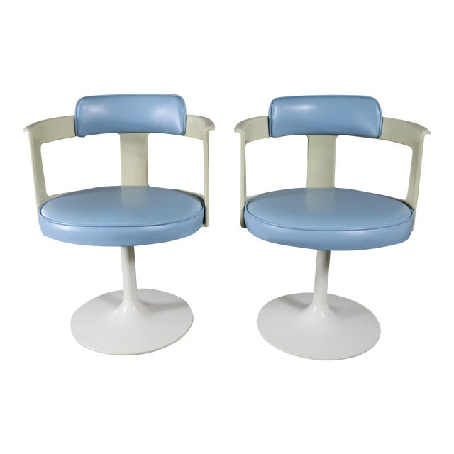 Daystrom Furniture Tulip Style Swivel Chairs - A Pair - Image 1 of 11