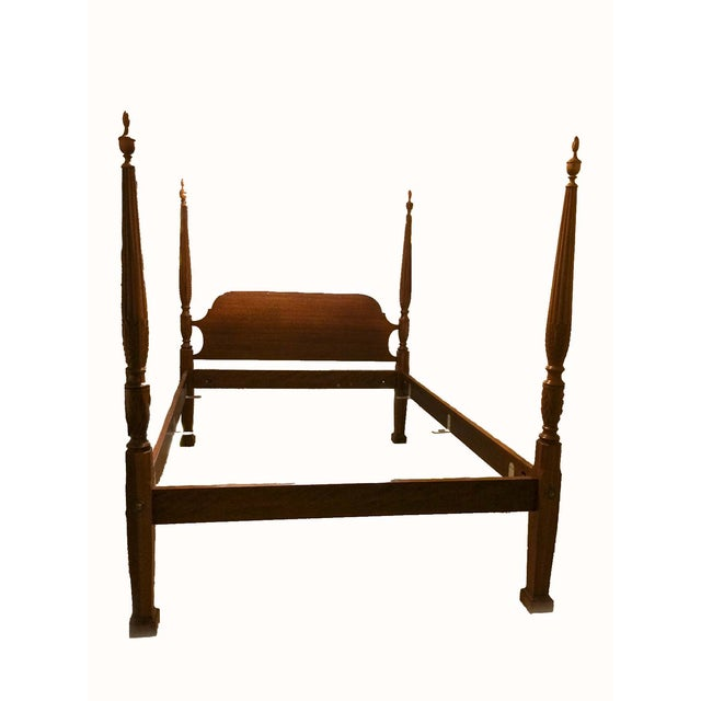 Mahogany Four Poster Queen Bed By Barrett Chairish