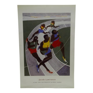 2001 Study for the Munich Olympic Games Poster Jacob Lawrence