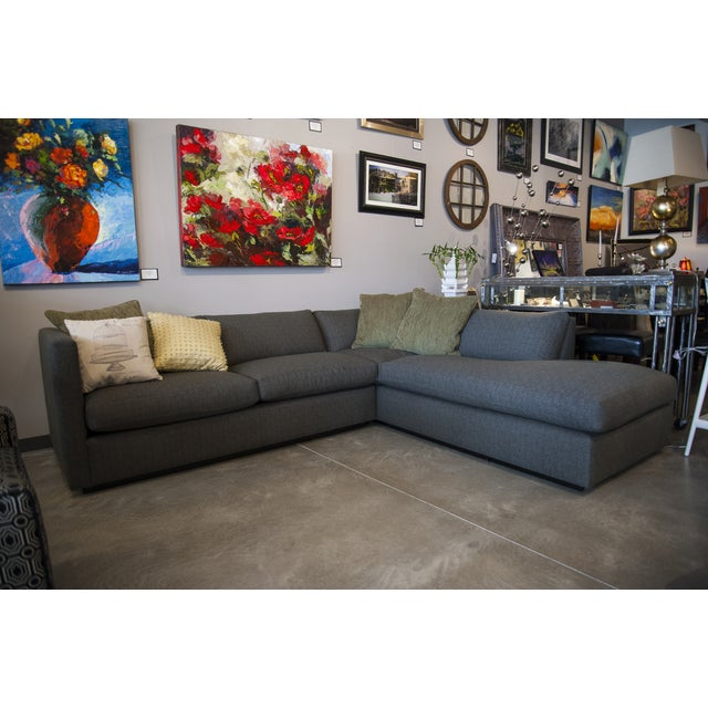 Nathan Anthony Upholstered Gray Sectional - Image 3 of 4