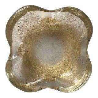Vintage Venetian Glass Dish-Gold Buccilante
