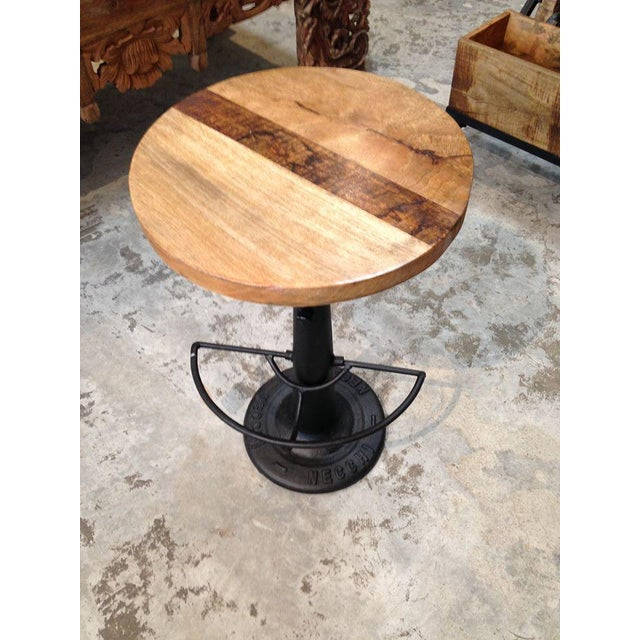 Image of Industrial Iron & Wood Stool