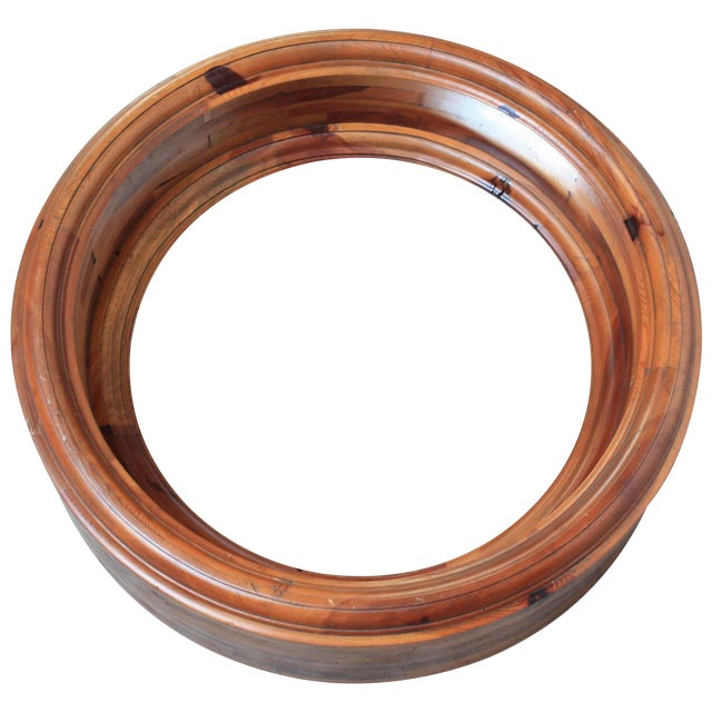 Large Wooden Porthole Mirror by Ralph Lauren - Image 1 of 4
