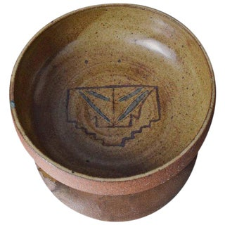 Mid-Century Vintage Ceramic Pottery Dish Signed MC