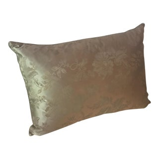 English Claremont Gold & Green Satin Pillow