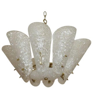 Elegant Austrian Kalmar Glass Chandelier with Brass Armature