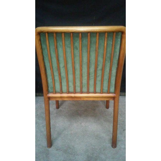 Image of Ward Bennett for Brickel Teak Suede Chairs - A Pai