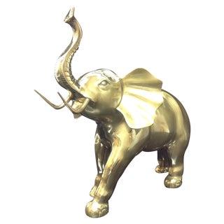 Brass Charging Elephant