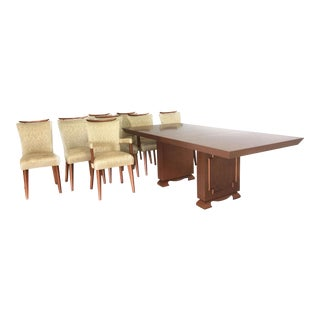 James Mont Style Mid Century Dining Table & Chairs