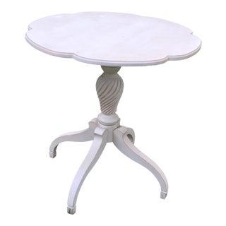 White Ethan Allen Leah Side Table