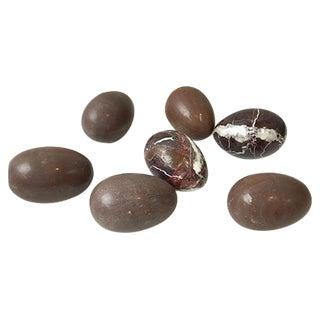 Dark Brown Italian Marble Eggs - Set of 7