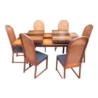 Milo Baughman for Directional Dining Table & Chairs - Set of 7
