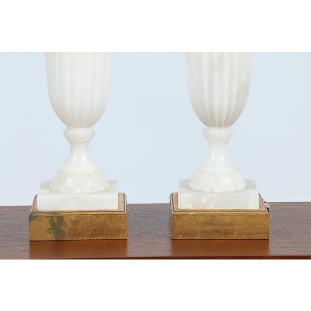 Vintage Alabaster Carved Lamps - A Pair - Image 7 of 7