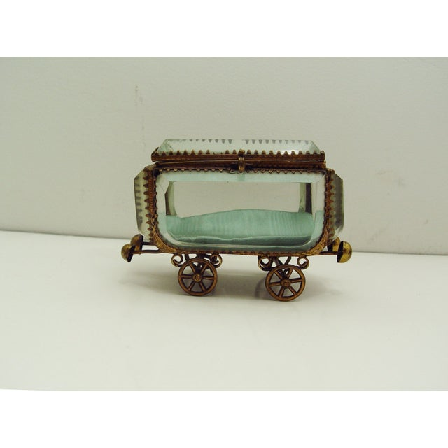 Vintage French Bevel Glass & Ormolu Carriage Box - Image 5 of 5