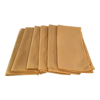 Vintage Yellow Table Napkins - Set of 6
