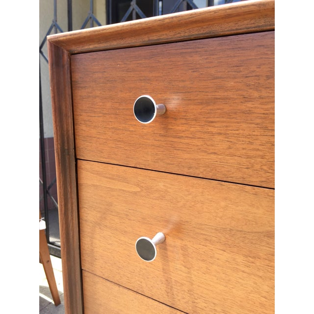 Glenn of California Walnut Highboy Dresser - Image 5 of 5