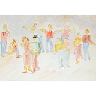 Jennings Tofel Dancing Couples Painting, C. 1940s