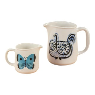 Arabia Ceramic Pitcher and Creamer