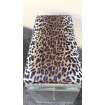 Image of Mid-Century Lucite Bench/Stool with Leopard Seat