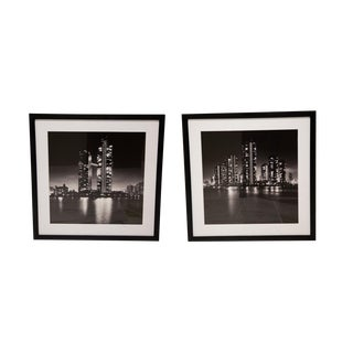 "New York Times Archives Framed Fine Art Photographs, ""Japan at Night"" - A Pair"