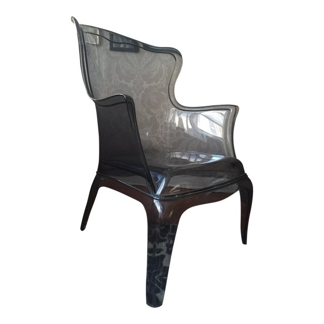 Image of Pasha 660 Grey Lucite Armchair