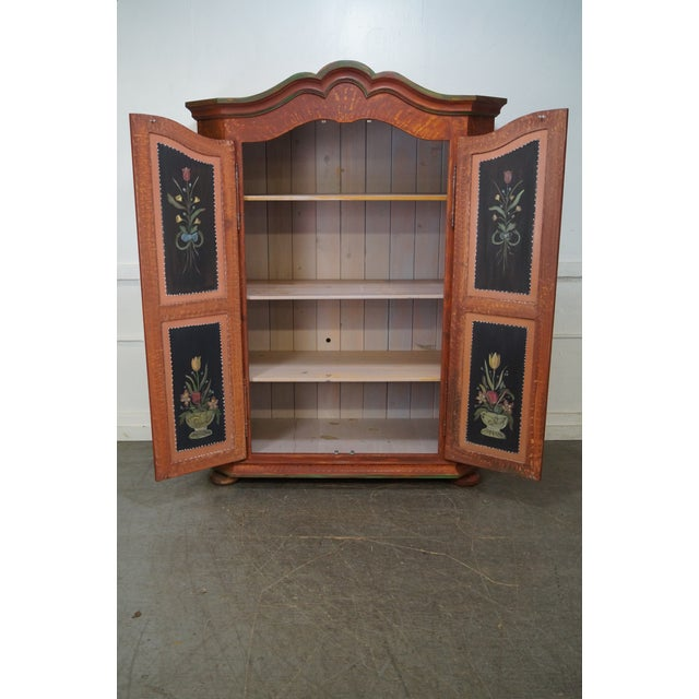 Image of French Style Hand Painted Armoire Cabinet