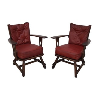 Old Hickory Antique Rustic Arm Chairs - Pair