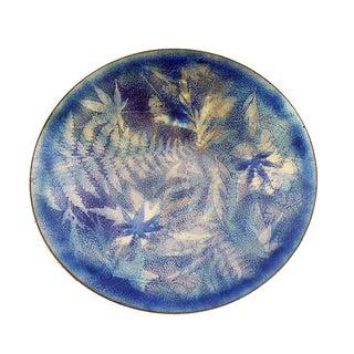 Vintage Modernist Maple Leaf Enamel Plate