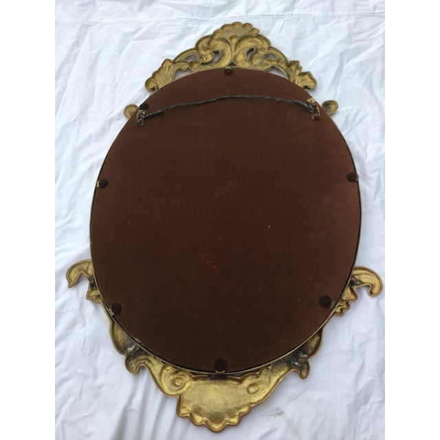 Image of 1970's French Style Brass Mirror