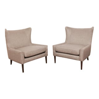 Brand New Modern Wingback Chairs - A Pair