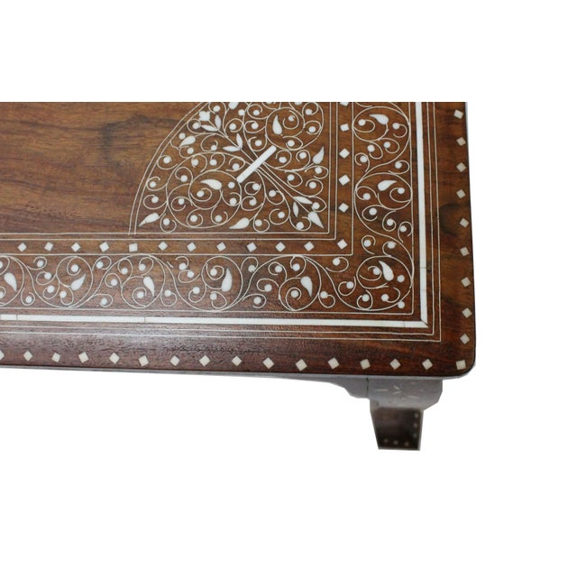 Vintage Bone Inlay Coffee Table - Image 2 of 8