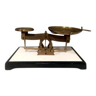 Antique Brass Pharmacy Scale