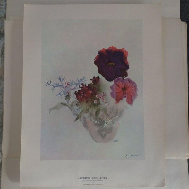 Art Print by Ian Woodner Anemones, Laurel & Fern - Image 2 of 8