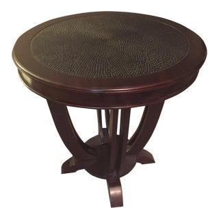 Palecek Hand Carved Wooden Side Table