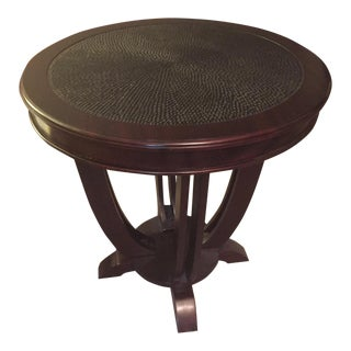 Palecek Hand Carved Wooden Side Table