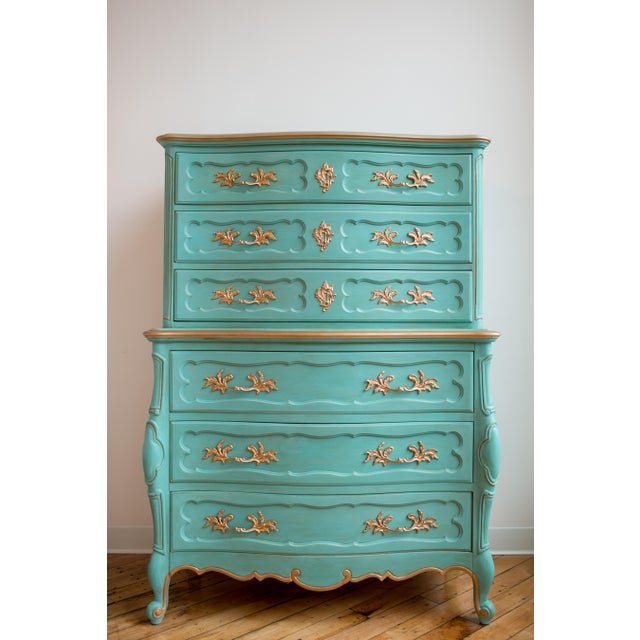 French Blue Thomasville Dresser - Image 2 of 6