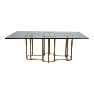 Mastercraft Brass Racetrack Dining Table