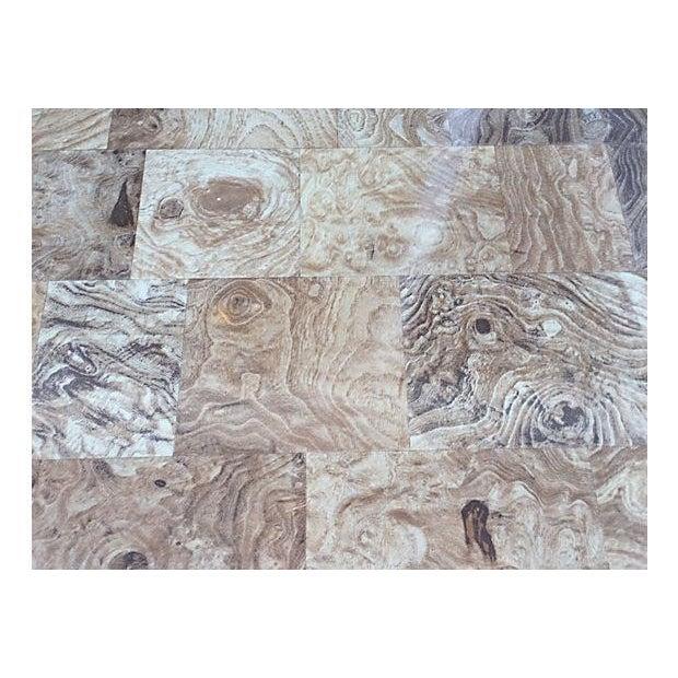Mid-Century Burl Wood & White Mica Dressers - Pair - Image 7 of 8