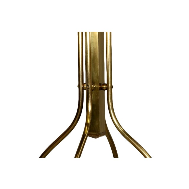 Mid-Century Coat and Hat Stand in Brass - Image 3 of 5